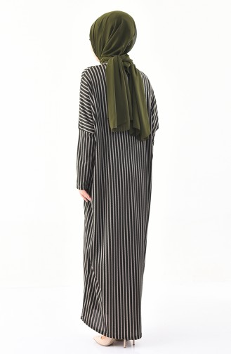 CAVANE Striped Abaya 9017-03 Khaki 9017-03
