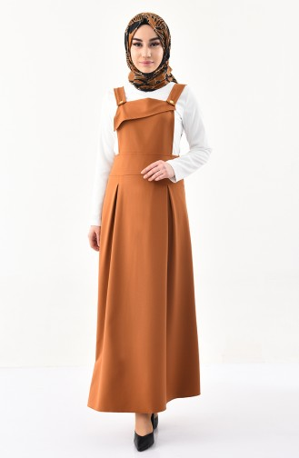 Robe Salopette Sans Manches 4517-07 Moutarde 4517-07