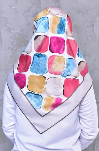 Patterned Rayon Shawl 2194-04 Mink 2194-04