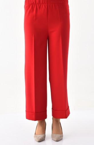 Pantalon Large élastique 4078-01 Rouge 4078-01