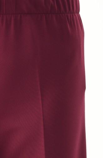 Pantalon Large élastique 4078-02 Plum 4078-02