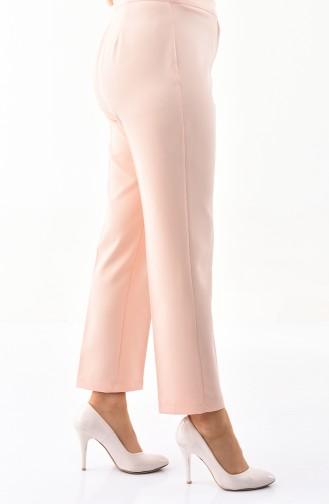 Large Size Straight cuff Pants 1110-10 Salmon 1110-10