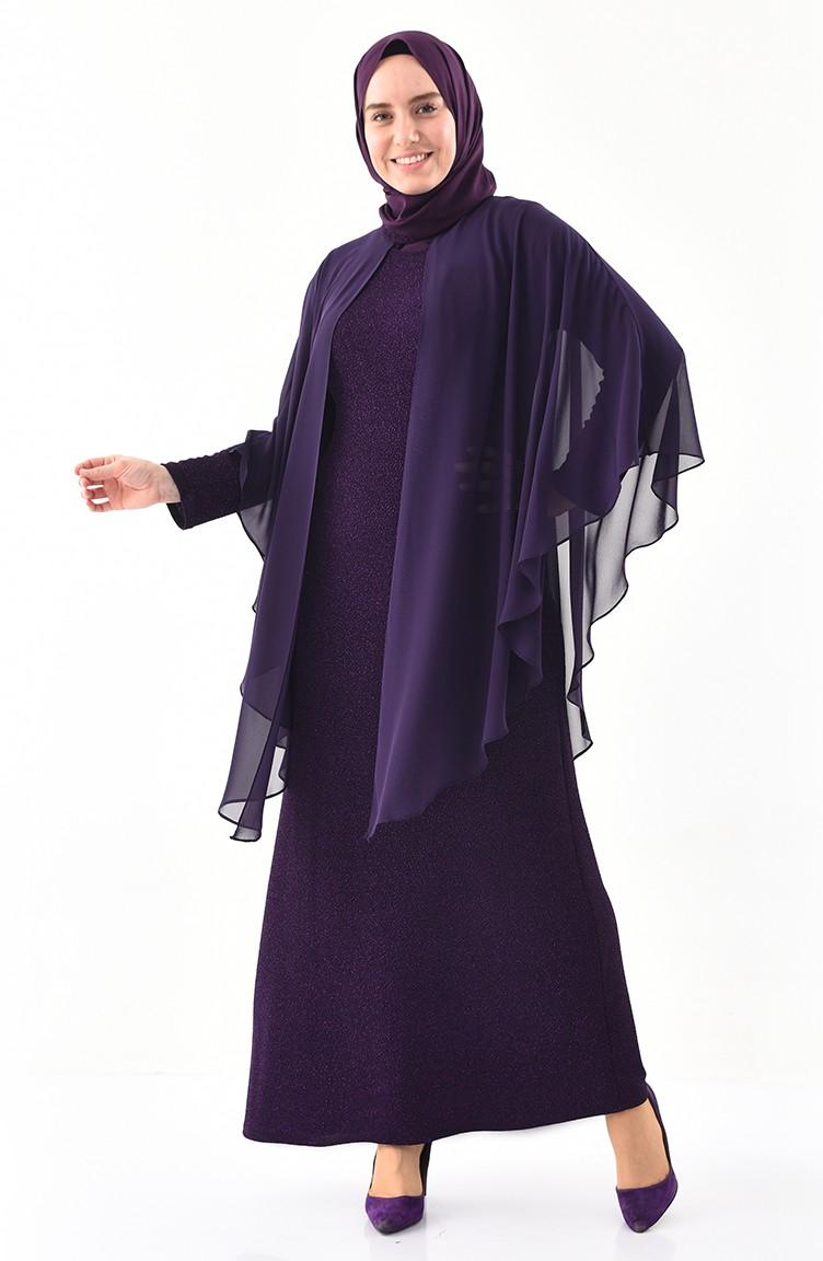 S A Paillettes Robe Soirée 1054 03 De Pourpre Grande Taille wXNnO0Pk8