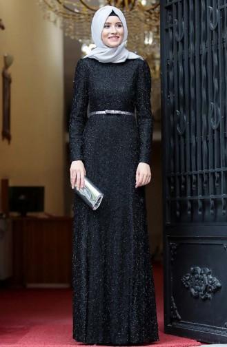 Schwarz Hijab-Abendkleider 3190-04