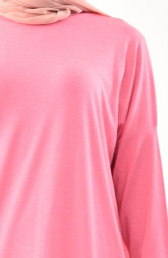 CAVANE Bat Sleeve Tunic 9006-03 Pink 9006-03