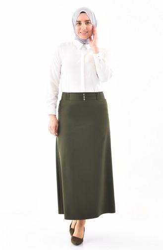 Large Size Pencil Skirt 0406-03 Khaki 0406-03