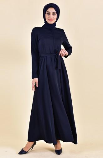 Glocke Abaya mit Versteckte Reißverschluss 5922-03 Dunkelblau 5922-03