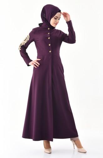 MISS VALLE Lacy Abaya 0136-02 Purple 0136-02