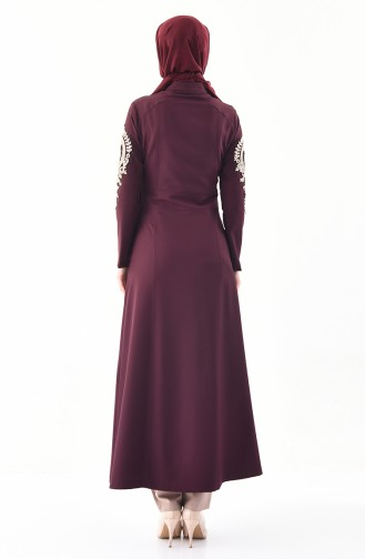 MISS VALLE Lacy Abaya 0136-03 Dark Damson 0136-03