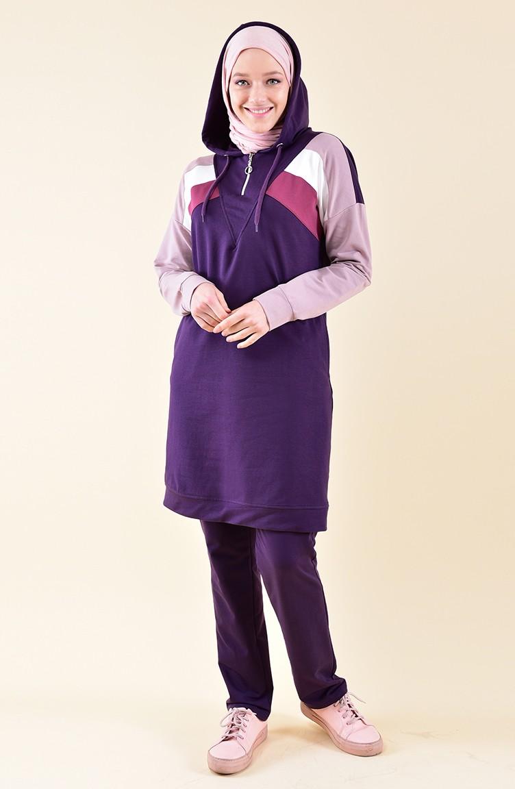 0c50c2f1489d BWEST Hooded Tracksuit 8331-04 Purple 8331-04