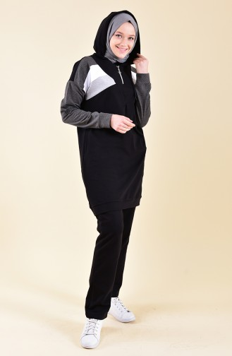 BWEST Hooded Tracksuit 8331-07 Black 8331-07