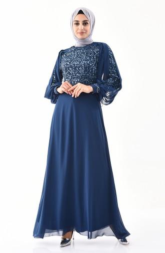 Cape Evening Dress 52736-01 Petrol 52736-01
