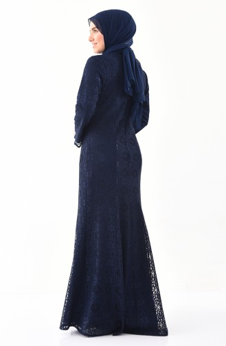 Habillé Hijab Bleu Marine 1297-02