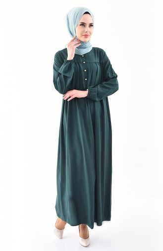 Buglem Buttoned Dress 1195-02 Emerald Green 1195-02