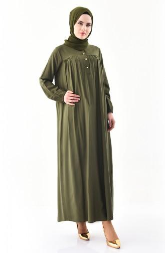 بوجليم فستان بتفاصيل ازرار 1195-03 لون اخضر 1195-03