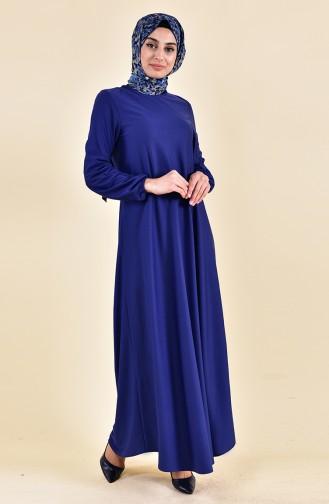 Indigo İslamitische Jurk 4141-09