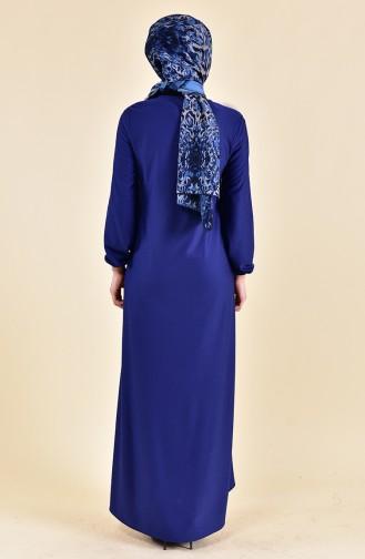 Kleid mit Gummi 4141-09 Indigo 4141-09