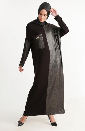 Robe a Paillettes 1353-01 Noir 1353-01