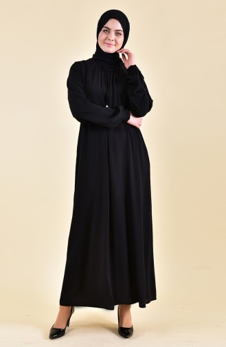 Sleeve Elastic Summer Dress 2005-01 Black 2005-01