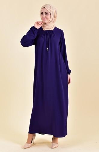 Sleeve Elastic Summer Dress 2005-02 Purple 2005-02