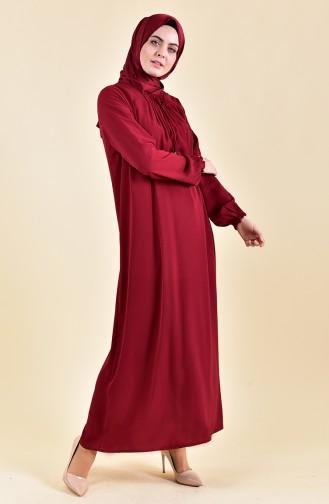 Sleeve Elastic Summer Dress 2005-03 Bordeaox 2005-03