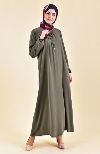 Sleeve Elastic Summer Dress 2005-06 Khaki 2005-06