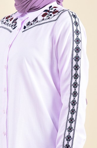 Embroidered Tunic  8224-08 Powder 8224-08