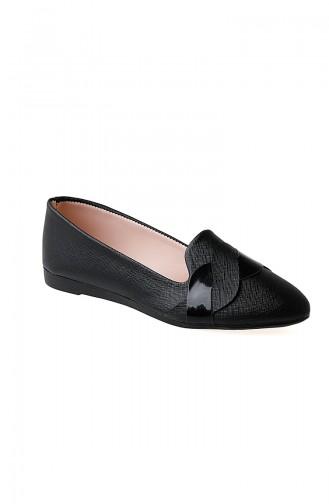 c0f45de1fb727 Sefamerve, Women´s Flat Shoes Ballerina 0119-01 Black