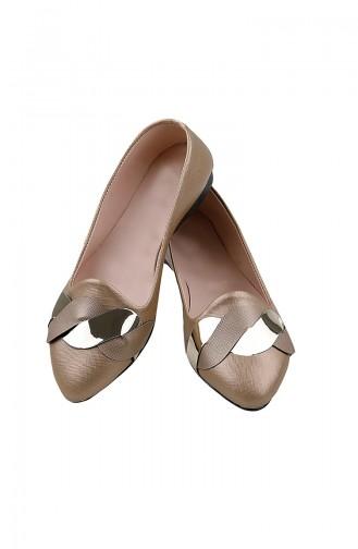 Women´s Flat Shoes Ballerina 0119-02 Gold 0119-02