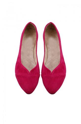 حذاء مُسطح نسائي باليرينا 0113-12 لون فوشيا 0113-12