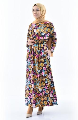 Patterned Summer Dress 2060-03 Purple 2060-03