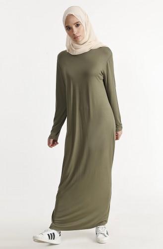 Basic Dress 1243-04 Khaki 1243-04