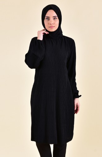 Elastic Sleeve Tunic 1328-01 Black 1328-01