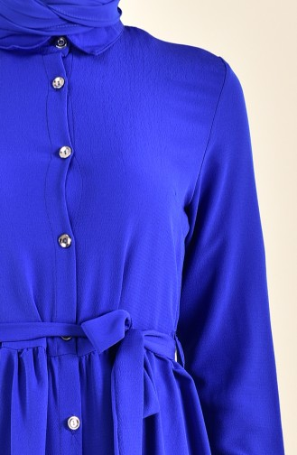 Belted Long Tunic 1268-03 Saxon Blue 1268-03