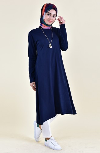 Necklace Tunic 7815-01 Navy Blue 7815-01