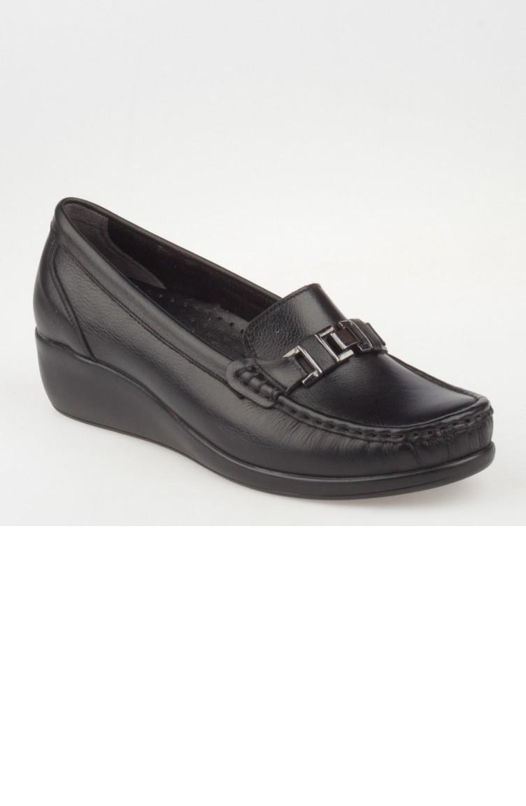 a6893552a118fc Iveko Chaussures orthopédiques Pour Femme A182Yıvk0003001 Noir Cuir  182YIVK0003001