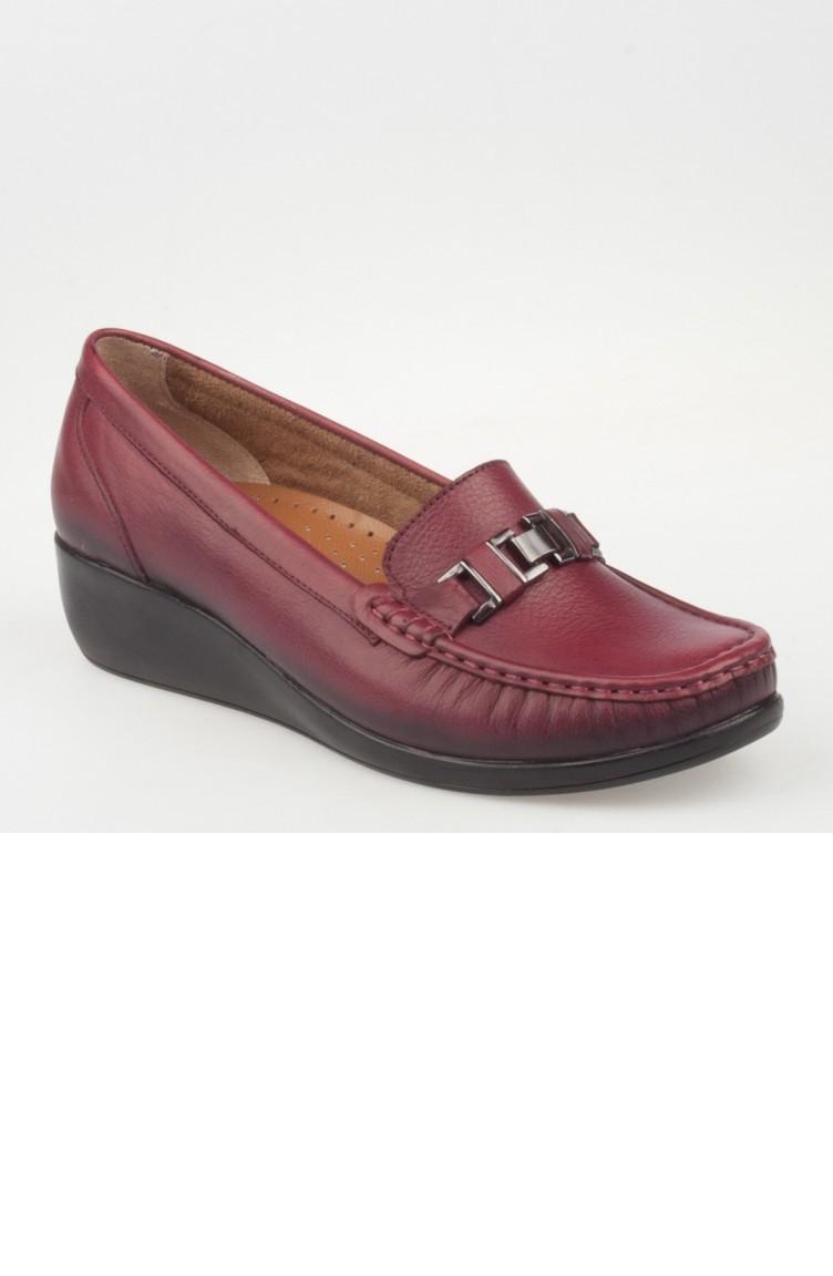 3b43b00fd افيكو حذاء طبي نسائي A182Yıvk0003016 لون خمري جلد 182YIVK0003016