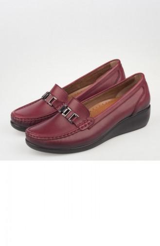Iveko Chaussures orthopédiques Pour Femme A182Yıvk0003016 Bordeaux Cuir 182YIVK0003016