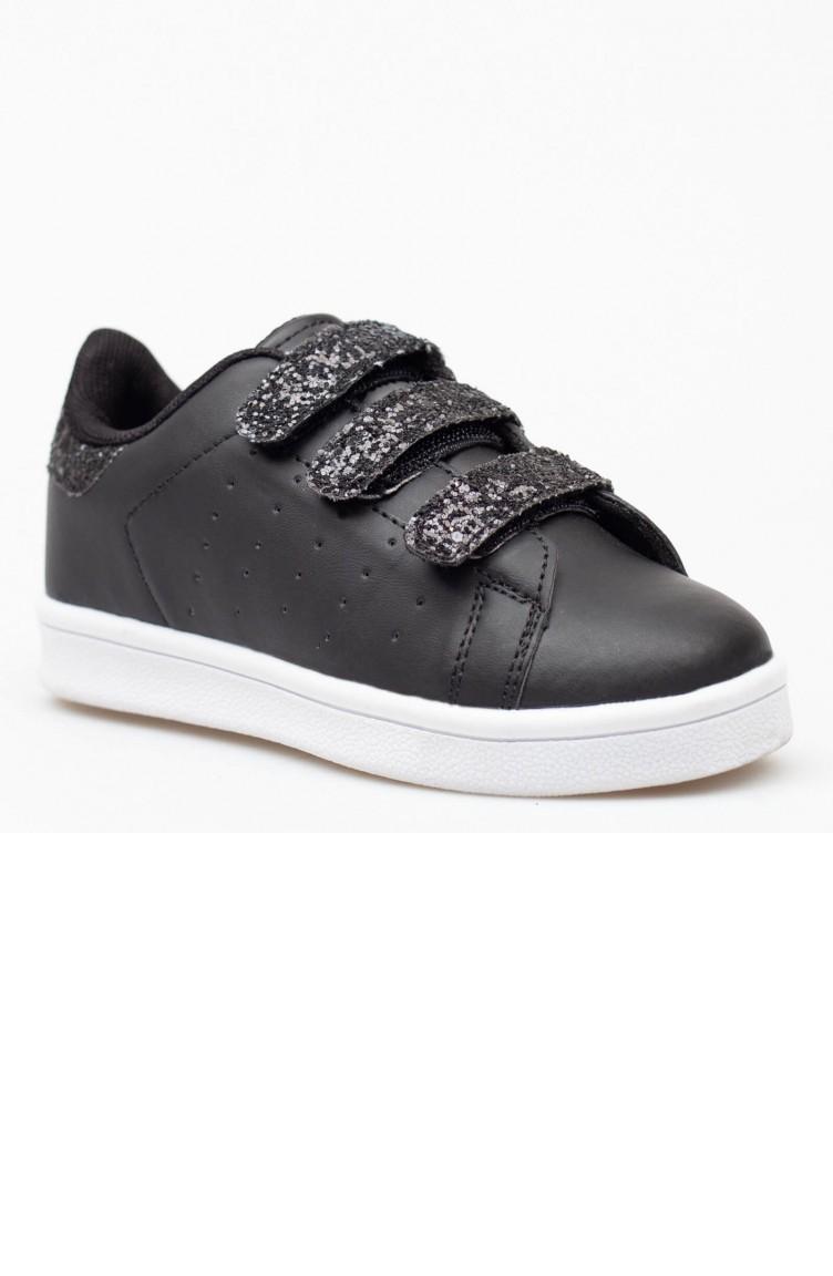 Kinderschoenen.Black Kinderschoenen 19pkjmp0010001