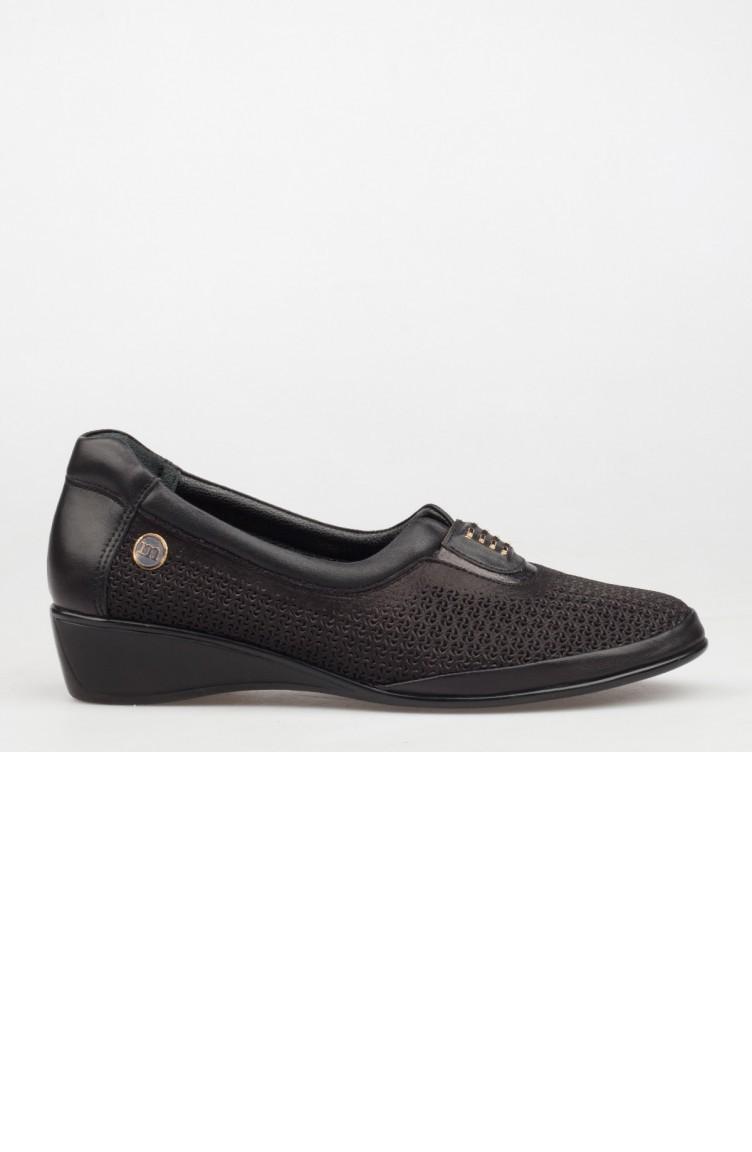 2563d30a4 ماما ميا حذاء نسائي بتصميم كعب ويدجA182Ydyl00912479 لون اسود جلد  182YDYL00912479