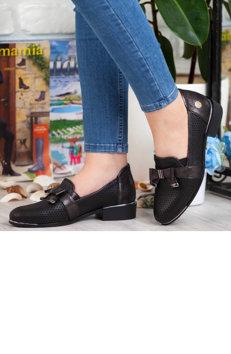 067616989 ماما ميا حذاء نسائي بتصميم كاجوال A192Ydyl00072989 لون اسود جلد  192YDYL00072989