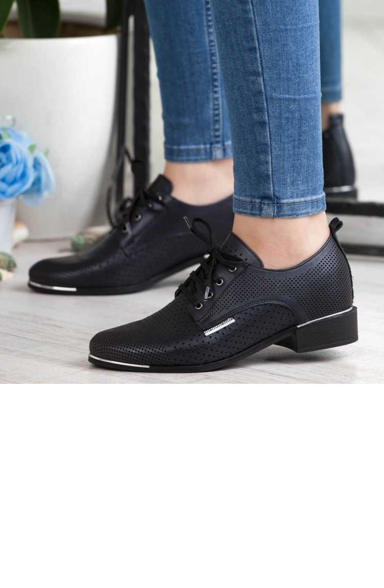 715194c09 ماما ميا حذاء نسائي بتصميم كاجوال A192Ydyl00471411 لون اسود جلد  192YDYL00471411