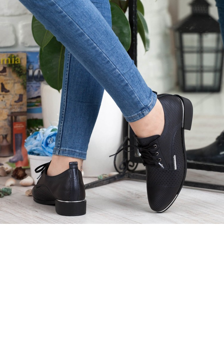 4df2fa0ce ماما ميا حذاء نسائي بتصميم كاجوال A192Ydyl00471411 لون اسود جلد  192YDYL00471411