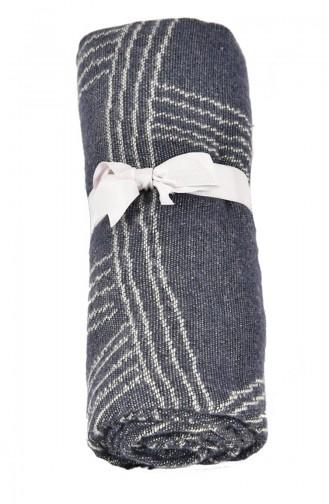 Dolce Bonita Wear Kadın Şal 90x170 cm Spider Lacivert-Kemik 10501010 10501010