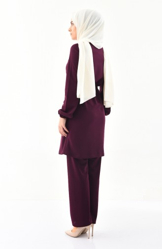 Tunic Pants Binary Suit 9013-02 Dark Plum 9013-02