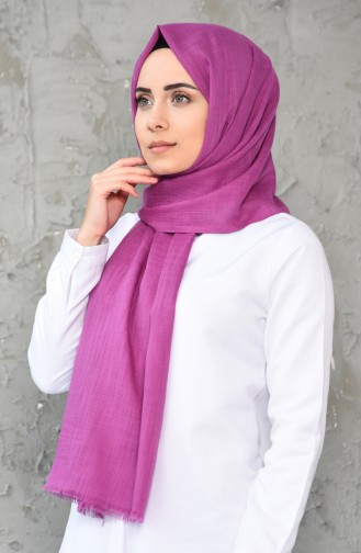 Plain Cotton Shawl 300-107 Purple 300-107
