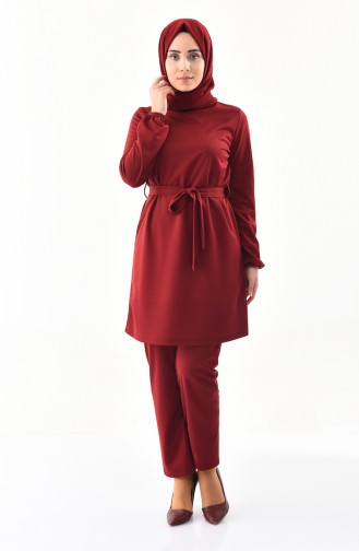 Tunic Pants Binary Suit 9013-01 Claret Red 9013-01