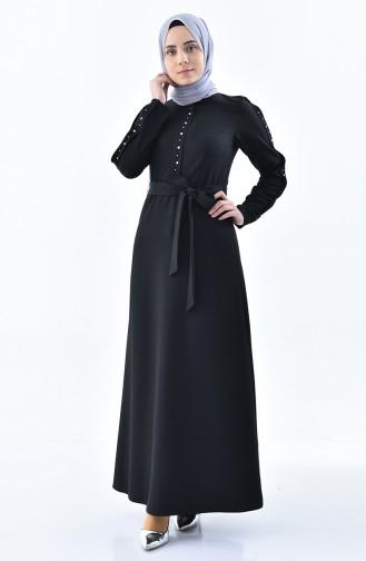 ZEN Stone Belted Dress 0226-02 Black 0226-02