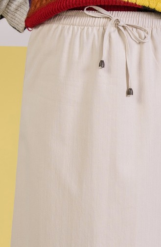 DURAN Elastic Waist Skirt 1201A-01 Beige 1201A-01