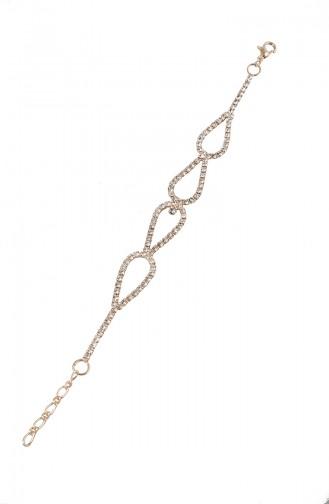 Rose Bracelet Plaqué or Cristal 08-0405-48-23-01 Rose 08-0405-48-23-01